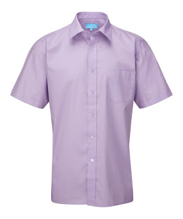 short sleeves lilac big man shirt
