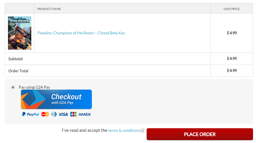 G2A Pay API