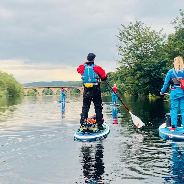 paddleboarding back to tyne green hexham northumberland