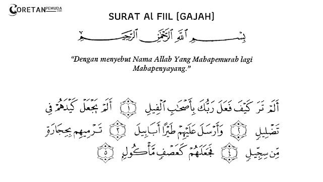 Teks Bacaan Lafadz Surah Al-Fil