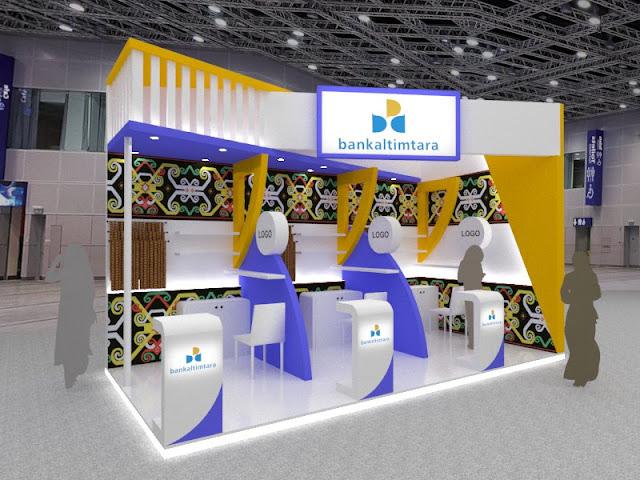 Booth Bank Kaltimtara desain kontraktor pameran