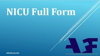 NICU Full Form