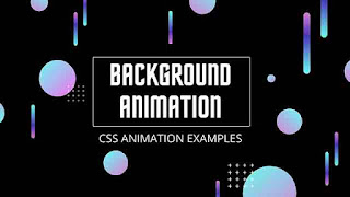 HTML CSS Animated Background