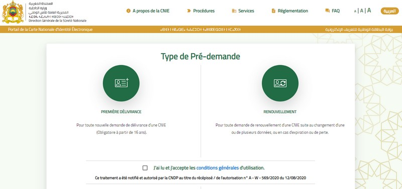RDV CNIE en ligne maroc