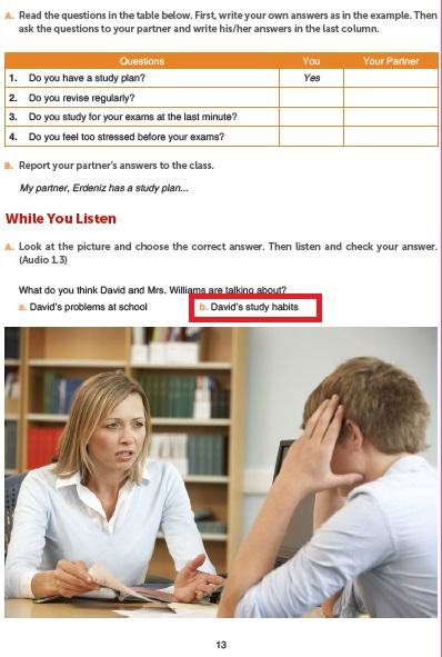 10. Sınıf İngilizce Ders Kitabı Cevapları Gizem Yayıncılık Sayfa 13