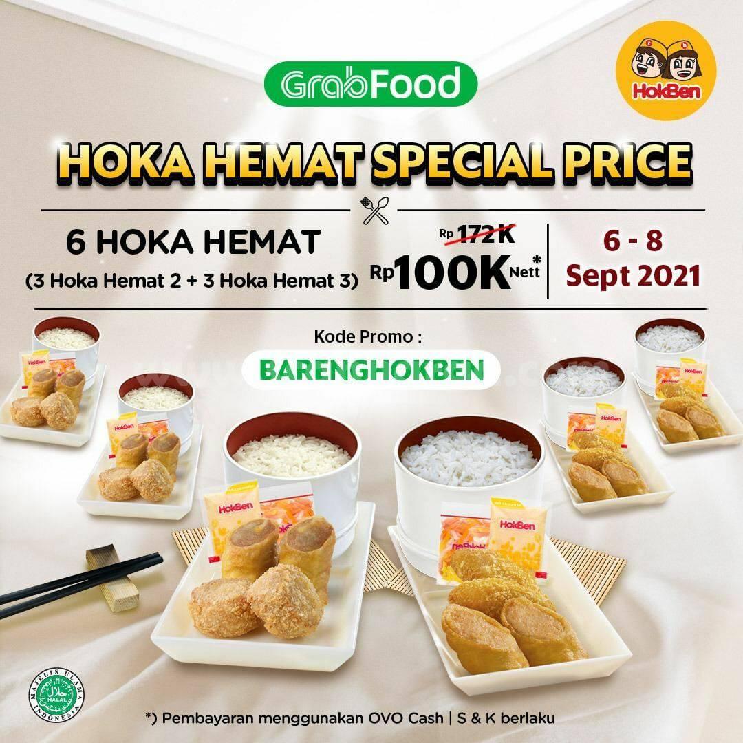 Promo HOKBEN GRABFOOD Harga Spesial 6 Hoka Hemat cuma Rp. 100.000