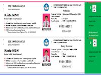 Aplikasi Excel Cetak Kartu NISN Siswa lengkap disertai foto siswa