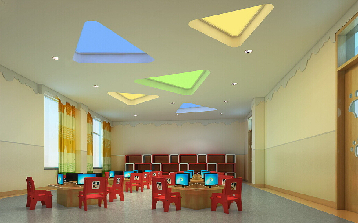 Kg Classroom Design ~ Foundation dezin decor colorful ceiling design
