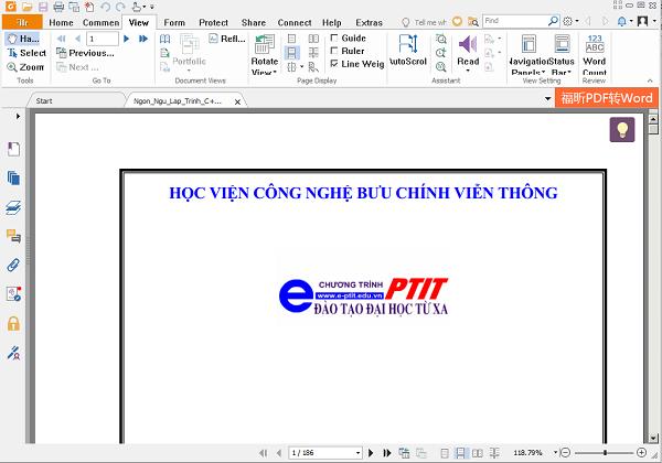 Download phần mềm đọc file PDF Foxit Reader 9.0 mới nhất  m