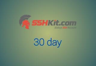 Cara membuat SSH aktif 30 hari