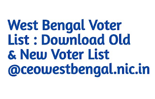 West Bengal Voter List