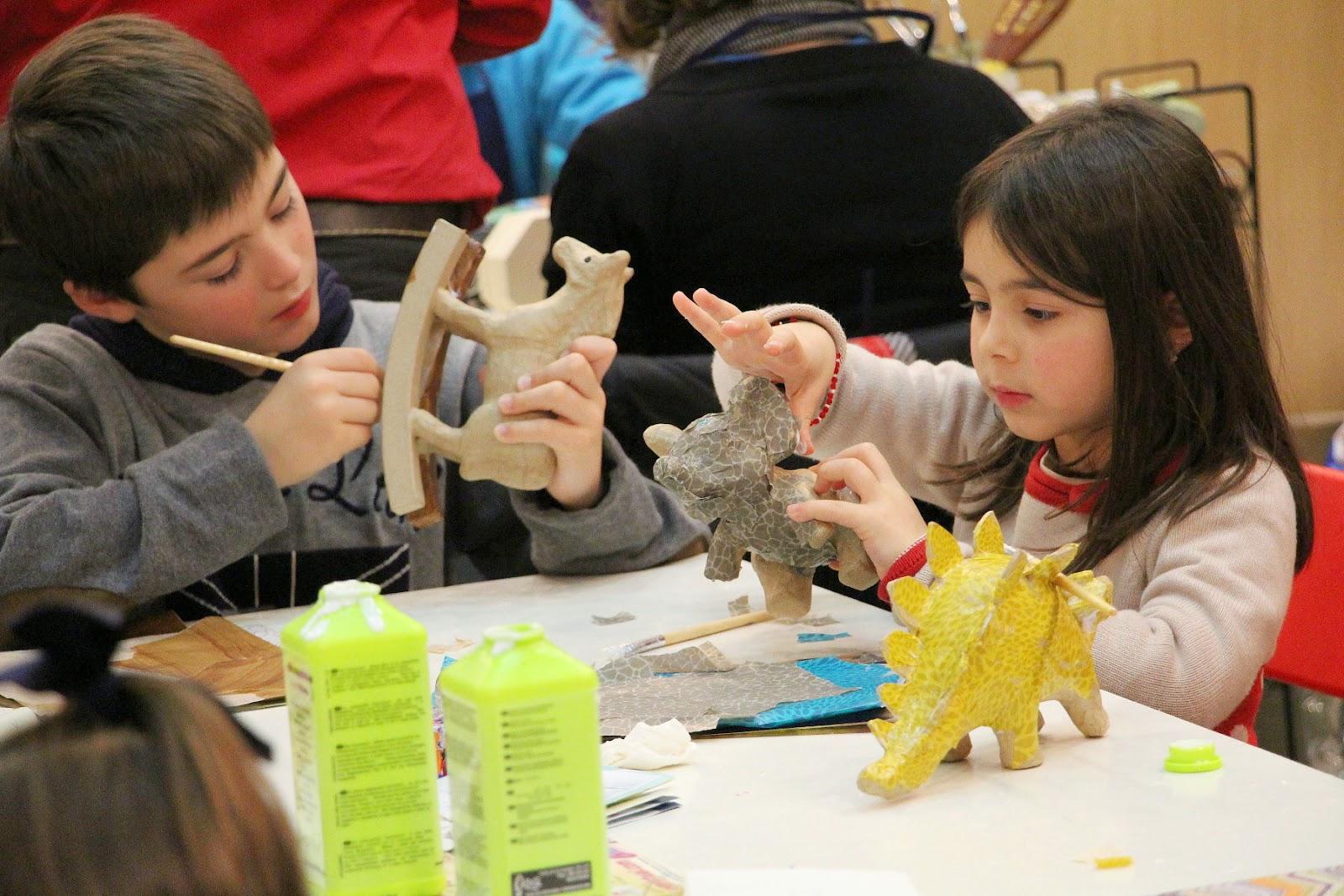 Niños en los talleres en Tendencias Creativas