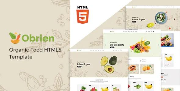 Obrien Organic Food HTML5 Template