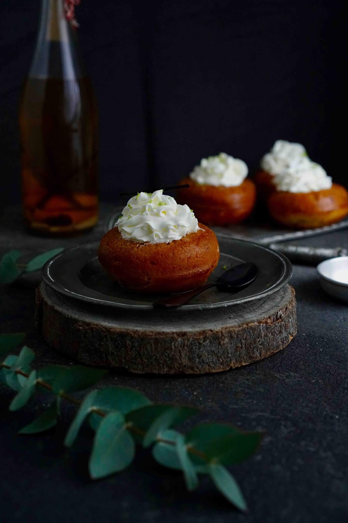 recette pâtisserie française , baba au rhum , vanille , recette de CAP