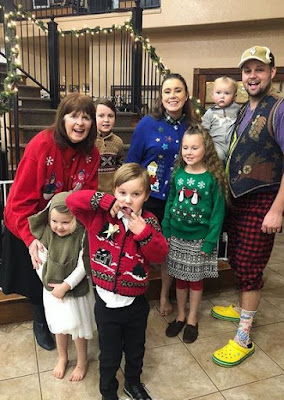 Josh and Anna Duggar ugly Christmas sweaters