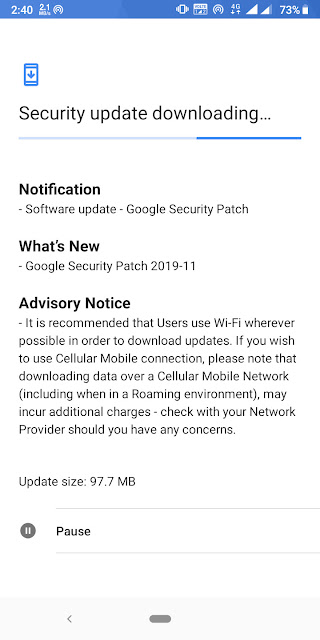 Nokia 3.1 Plus receiving November 2019 Android Security update