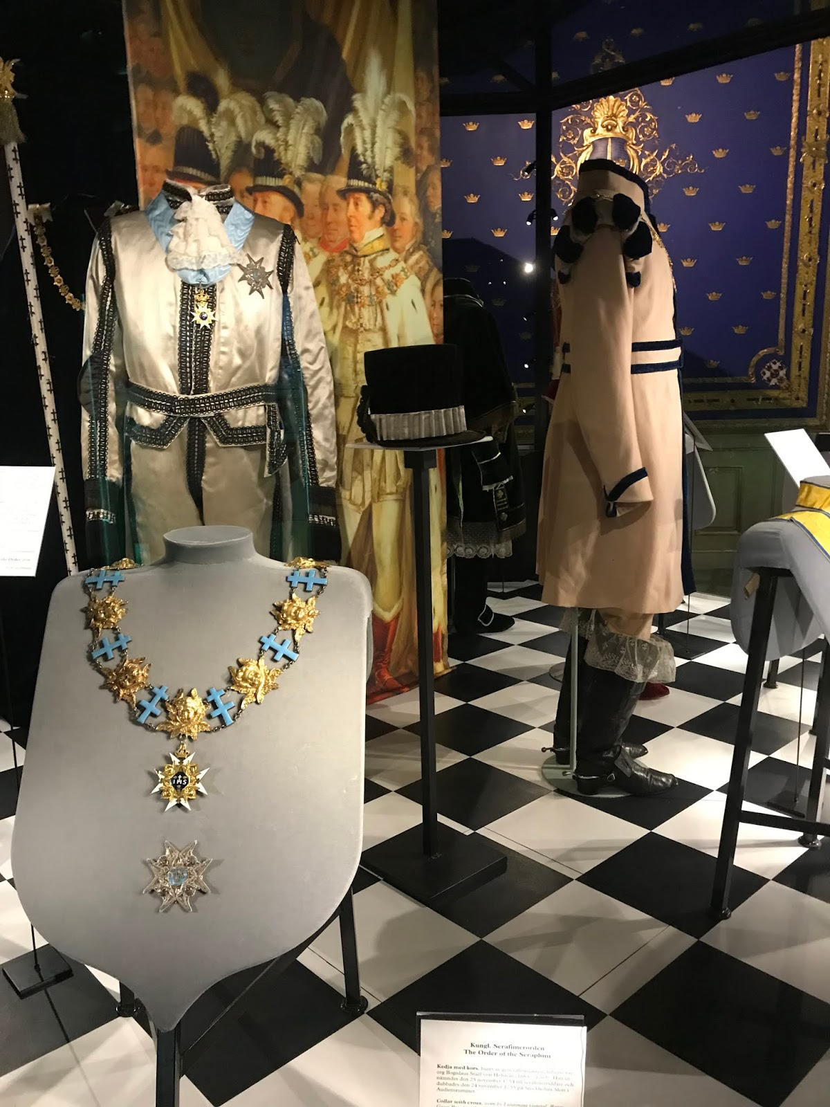 Royal outfits at the Royal Palace in Stockholm Sweden