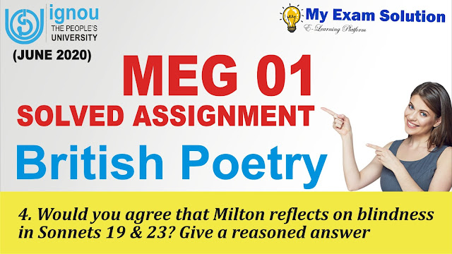 ignou assignment, british poetry ignou assignment, milton sonnets,