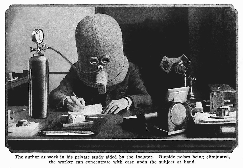 the Isolator device for writers, a photograph