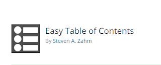 Easy Table of Contents