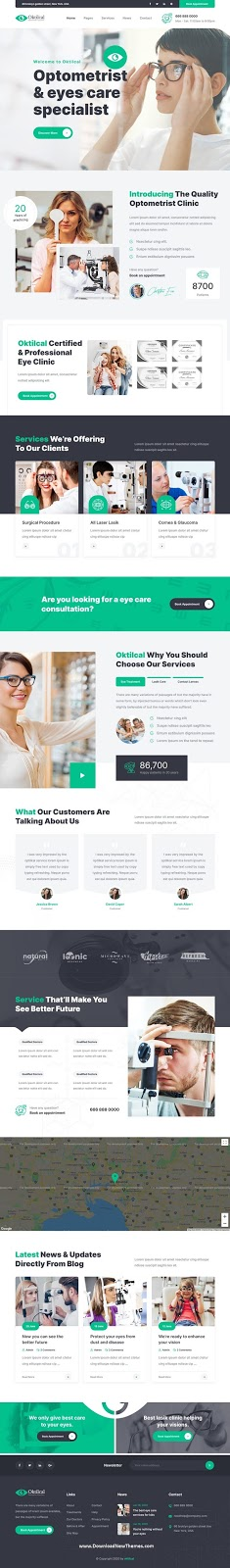 Download Optometrist & Eye Care Template