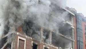 Foto de Edificio que fue destruido por explosion en madrid