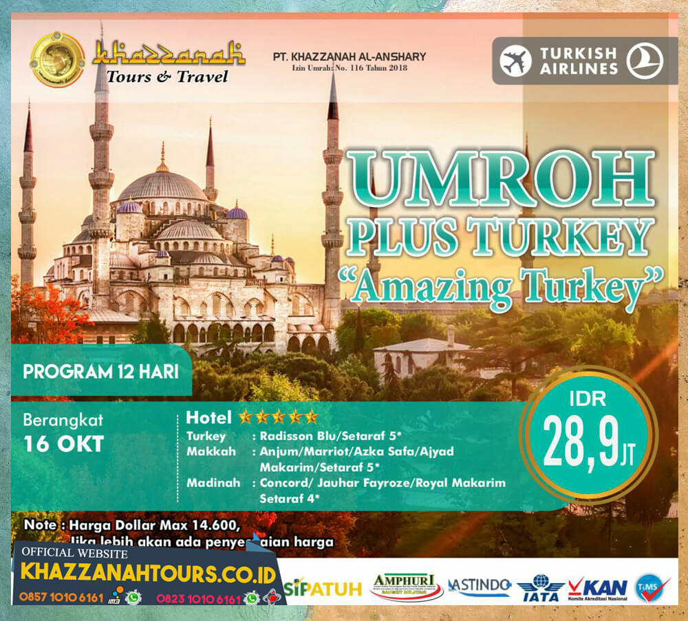 Umroh Plus Turkey Amazing Turkey