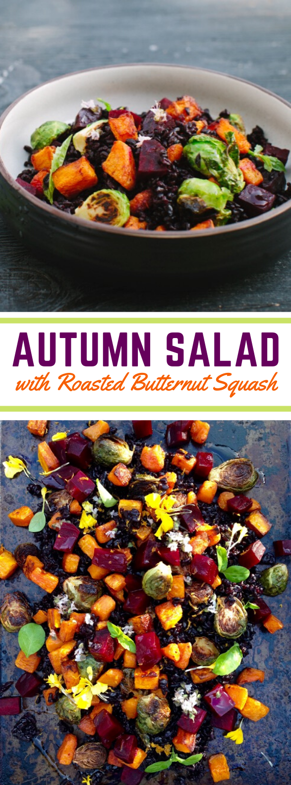 Autumn Salad Recipe with Roasted Butternut Squash #vegetarian #veggies