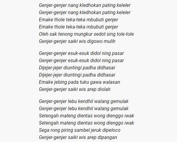 Fakta dan Makna Lagu Genjer-Genjer