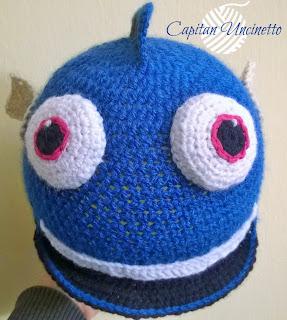 Cappello Dory lavorato ad uncinetto