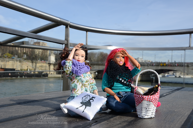 Handmade clothes for made to move Barbie dolls