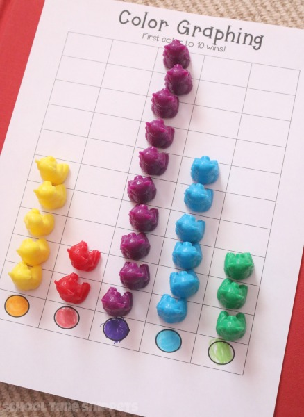 preschool graphing math printable
