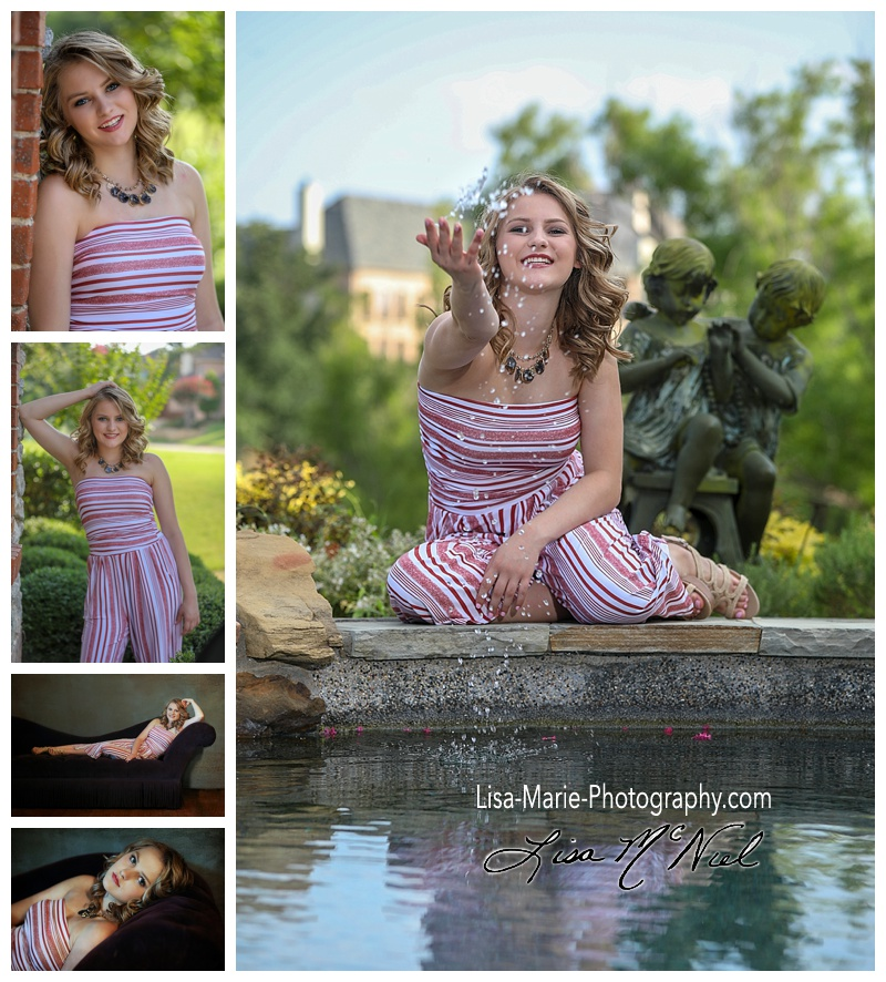 senior pictures of girl outside and inside