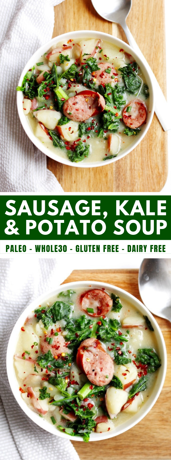 SAUSAGE, KALE AND POTATO SOUP #diet #comfortingsoup