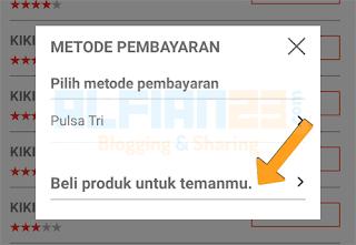 mengirim paket chat dari aplikasi bima+