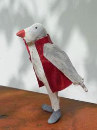 Papier à êtres : Oiseau gris