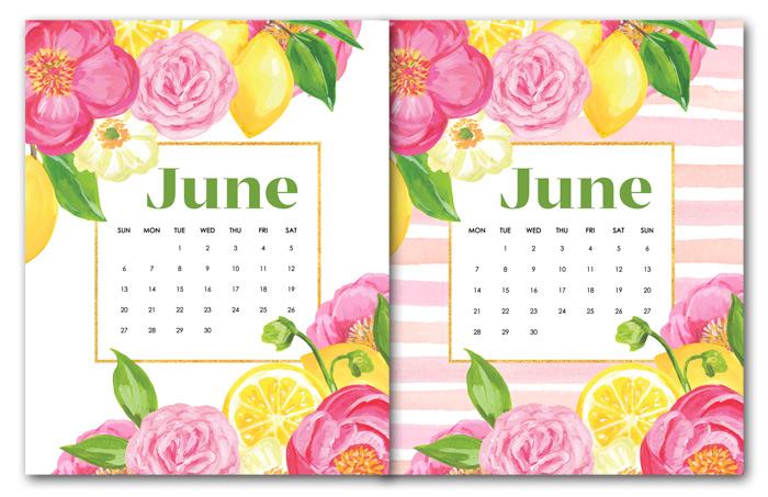 June Calendar Downloads