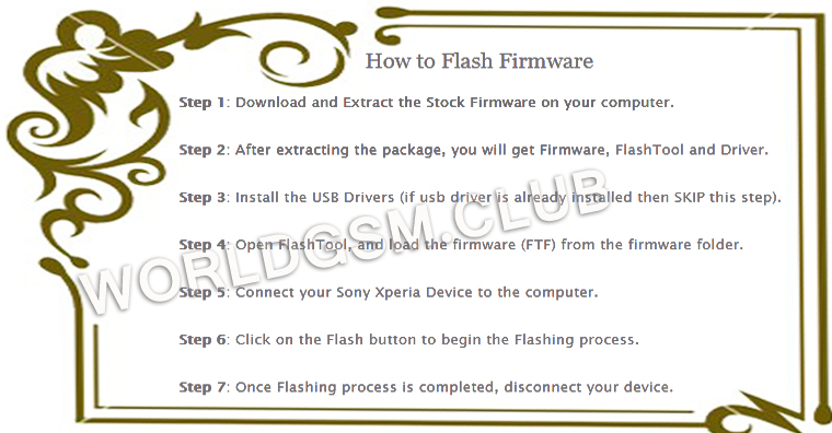 HOW TO FLASH SONY XPERIA