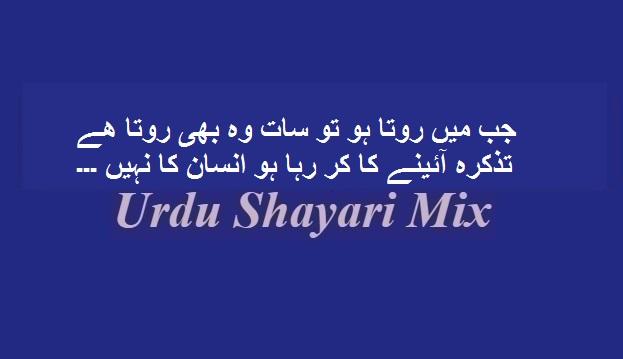 Jab mein rota hun, Sad shari, Urdu shayari