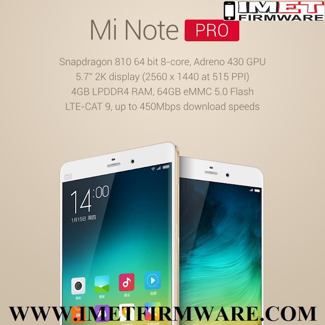 Xiaomi Mi Note Pro Flash File Firmware Stock Rom - IMET