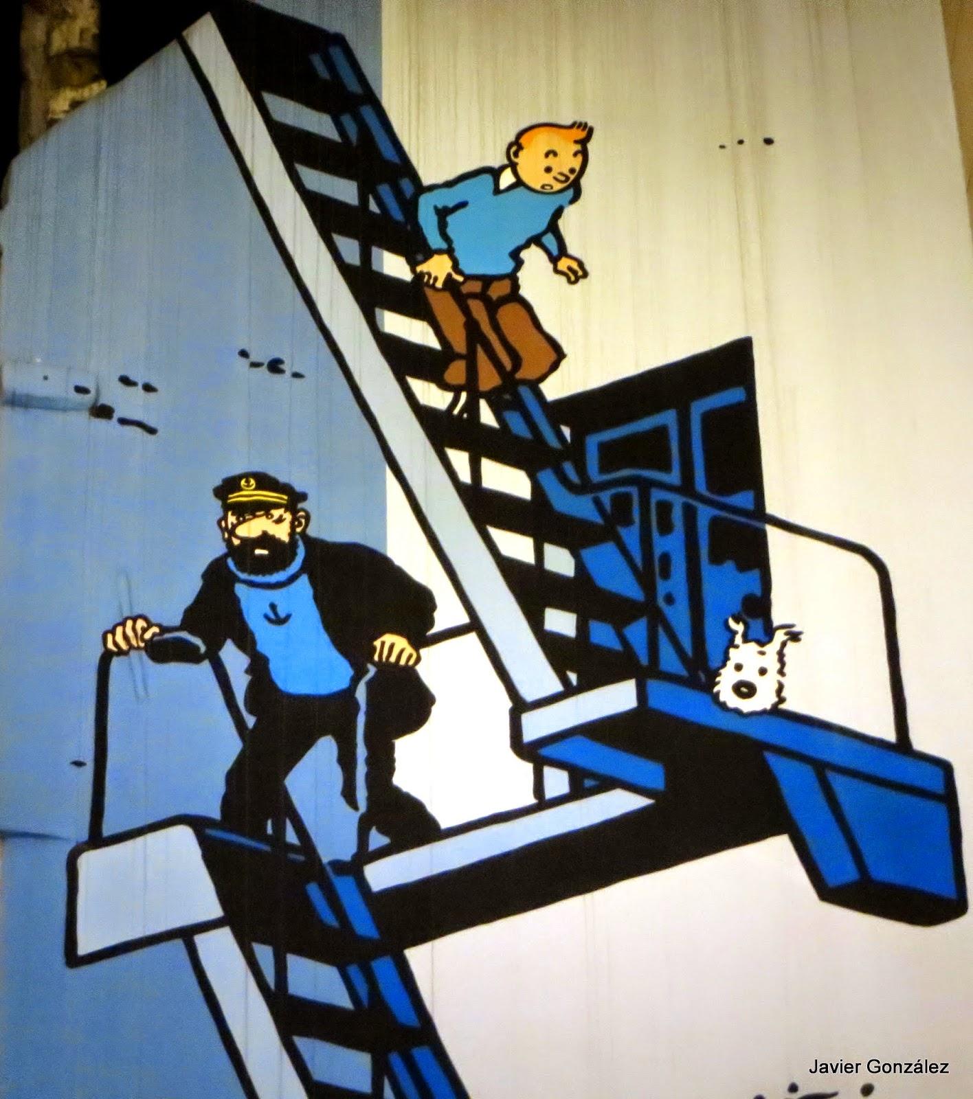 Trampantojo. Tintin. Trompe de l'oeil. Bruselas