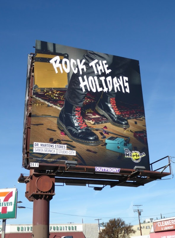 Rock the Holidays Dr Martens billboard