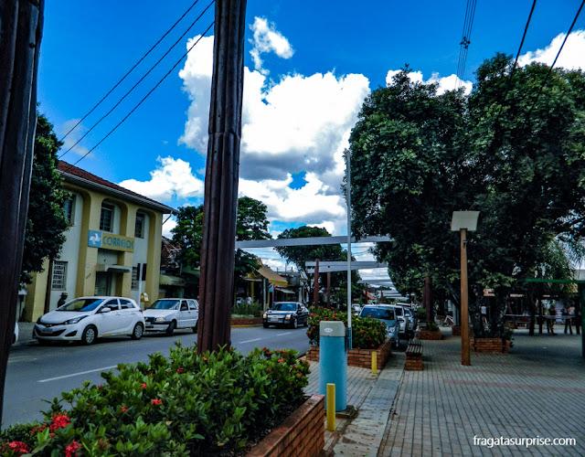 Centro da cidade de Bonito, Mato Grosso do Sul