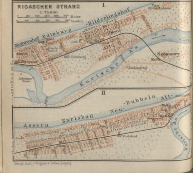 map rigascher strand