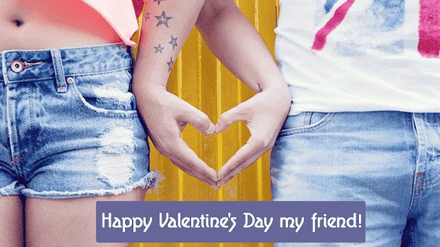 Best friend valentines day card