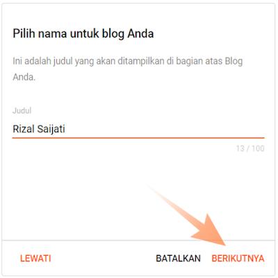 membuat blog di blogger
