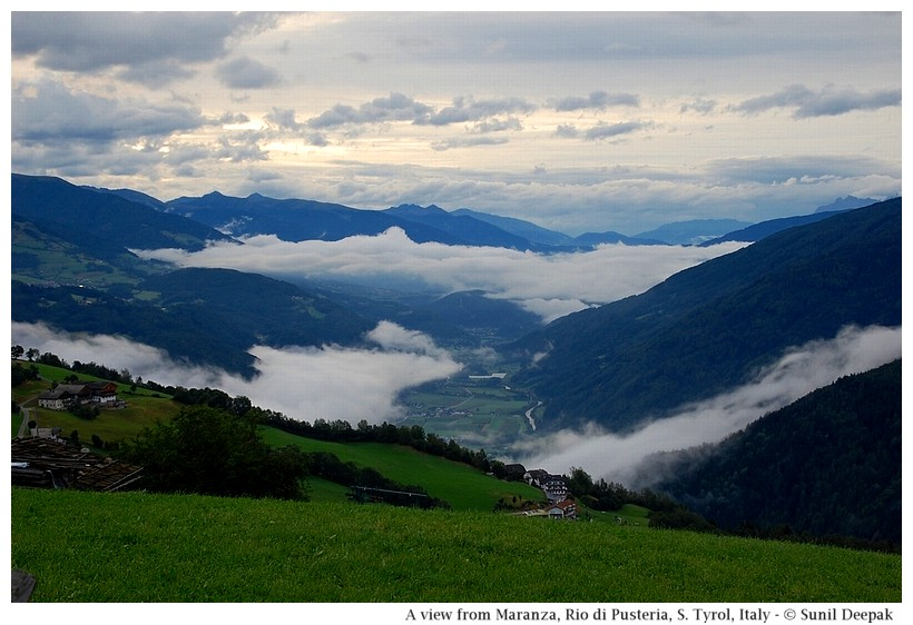 A view of the valley, Maranza (Rio di Pusteria, Alto Adige, Italy) - Images by Sunil Deepak