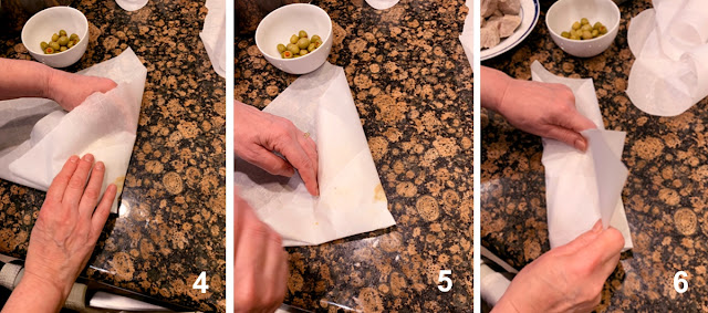 Steps 4 to 6 of Wrapping Paches