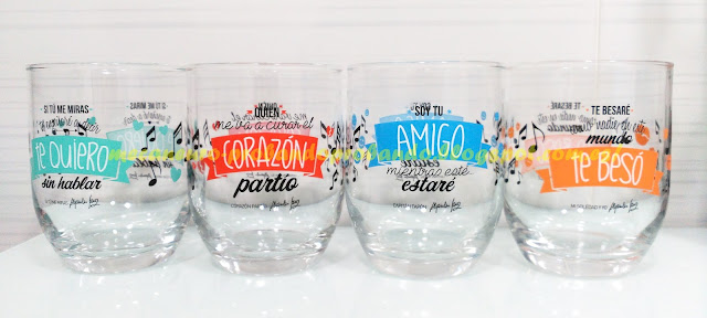 Colección vasos Nocilla Alejandro Sanz