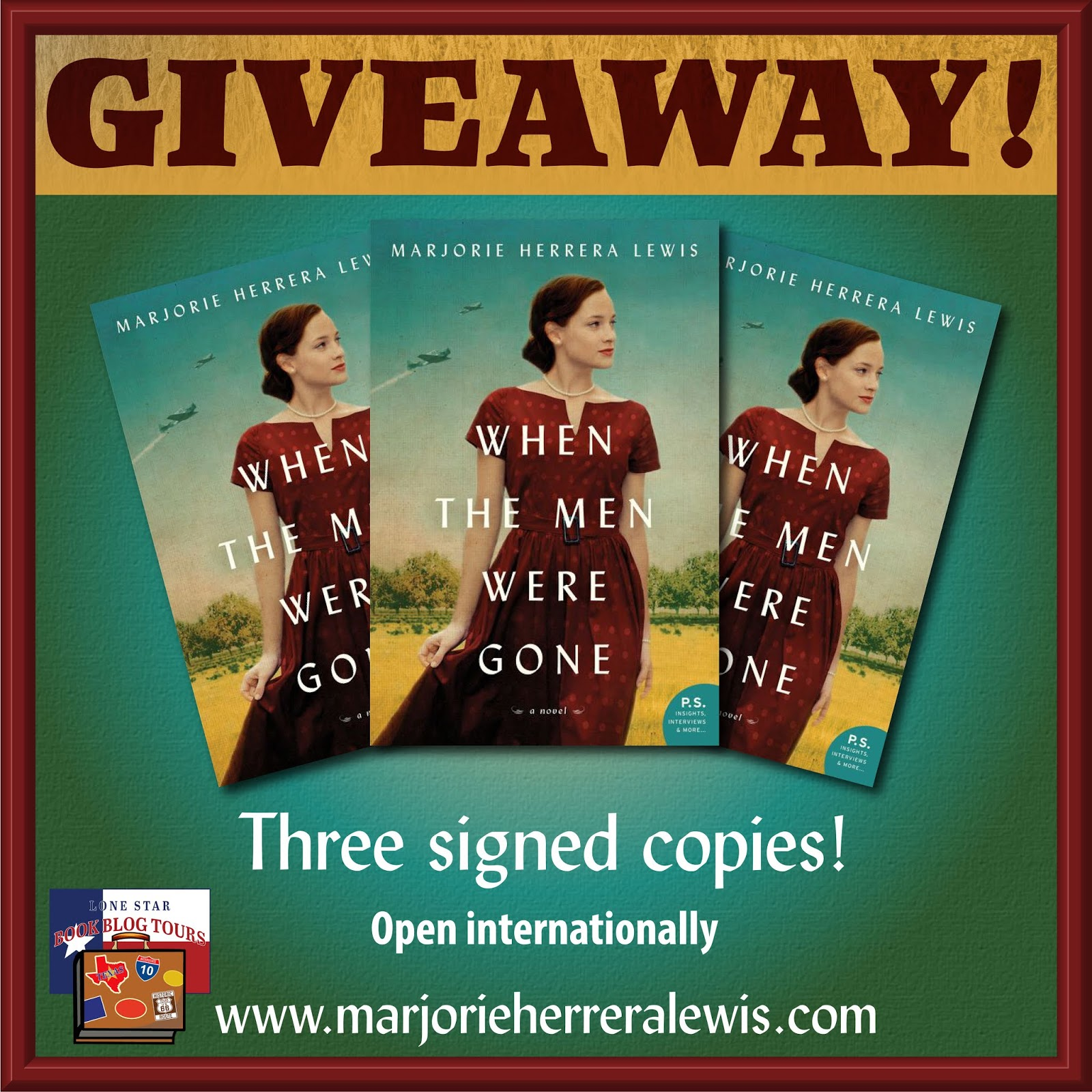 When the Men Were Gone giveaway graphic